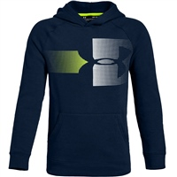 Under Armour Boys Rival Logo Hoodie - Navy/White/Volt