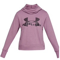 Under Armour Womens Sportstyle Logo Fleece Hoodie - Purple