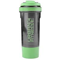 UFE Urban Fitness 2in1 Protein Shaker - 700ml - Black/Green