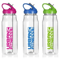 UFE Urban Fitness Hydro Drinks Bottle - 700ml - Clear/Blue
