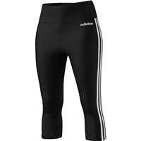 Adidas Womens D2M 3S 3/4 Tights - Black/White