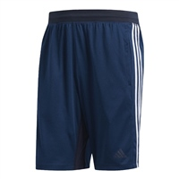 Adidas Mens Sports Heather 3S 9in Shorts - Navy/White