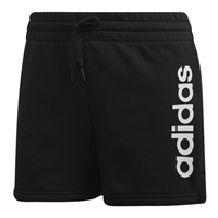 Adidas Womens Essentials Linear Logo Shorts - Black/White