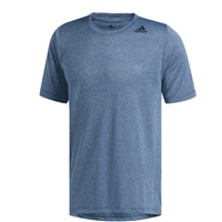 Adidas Mens FreeLift Tech Fitted  Heathered Tee - Blue