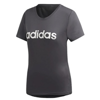 Adidas Womens D2M Logo T-Shirt - Grey