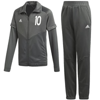 Adidas Boys Messi Tracksuit - Grey