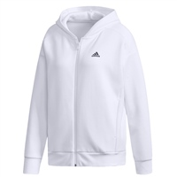 Adidas Womens Sport 2 Street Hooded Jacket - White