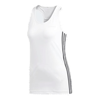 Adidas Womens D2M 3S Tank - White/Black