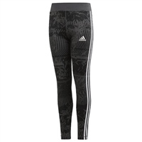 Adidas Girls Training EQ 3S Tights - Grey/Black/White