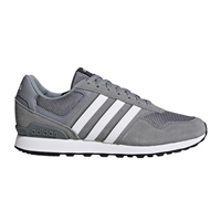 Adidas Mens 10K Runners - Grey/White/Grey