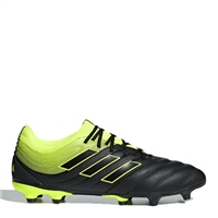 Adidas Copa 19.3 FG Football Boots - Black/SafetyYellow