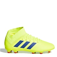 Adidas Kids Nemeziz 18.3 FG J - SafetyYellow/Blue