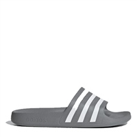 Adidas Adults Adilette Aqua Slides - Grey/White