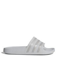 Adidas Adults Adilette Aqua Slides - White/Grey