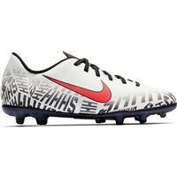 Nike Kids Neymar Jr. Vapor 12 Club FG - White/Red/Black