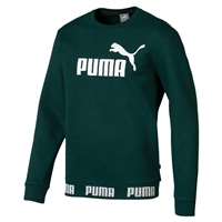Puma Mens Amplified Crew FL Sweat Top - Pine Green