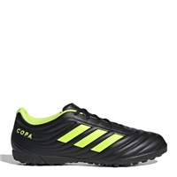 Adidas Copa 19.4 TF Turf Trainers - Kids - Black/SafetyYellow