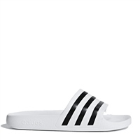 Adidas Adults Adilette Aqua Slides - White/Black