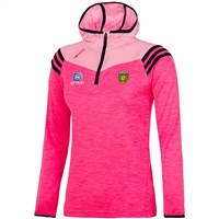 ONeills Donegal Colorado Ladies Hooded HZ Top - Pink/Pink