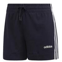 Adidas Womens Essential 3 Stripe Shorts - Navy/White