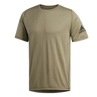 Adidas Mens FreeLift Sport Ultimate Heather Tee - Khaki.Green