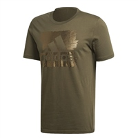 Adidas Mens MH Foil Badge of Sport Tee - Khaki.Green