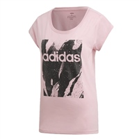Adidas Womens Ess. Allover Print T-Shirt - Pink/Black