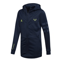 Adidas Boys Messi Full Zip Hoodie - Navy/Yellow