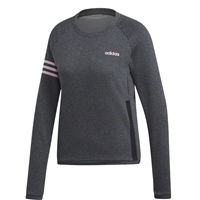 Adidas Womens Ess. Motion Pack Sweat Top - Grey/Pink