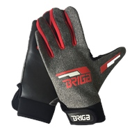 Briga Gaelic Glove - Marl.Grey/Red/White