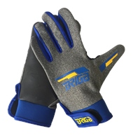 Briga Gaelic Glove - Marl.Grey/Royal/Amber