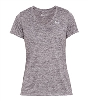 Under Armour Womens Tech SSv S/S T-Shirt - Gry/Purple