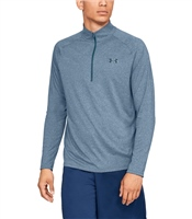 Under Armour Mens Tech 2.0 1/2 Zip Top - Blue