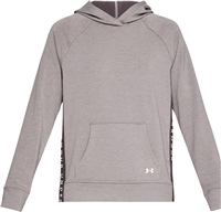Under Armour Womens Featherweight Fleece Hoody - Gry/Purple