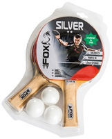 Fox Silver 2 Player Table Tennis Set - Red