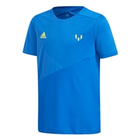 Adidas Boys Messi T-Shirt - Royal/SafetyYellow