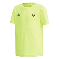 Adidas Boys Messi T-Shirt - SafetyYellow/Blue