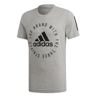 Adidas Mens Sports ID T-Shirt - Grey/Black