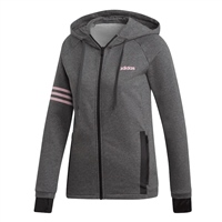 Adidas Womens Ess. Motion Pack FZ Hoodie - Grey/Pink