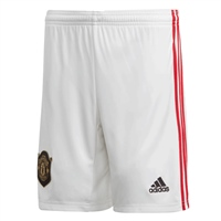 Adidas Manchester United Home Shorts 19/20 - Kids - White