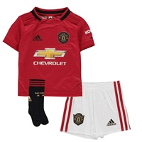 Adidas Manchester United Infant Home Kit 19/20 - Red/White