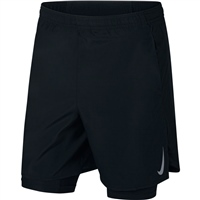 "Nike Mens 7"" Challenger 2in1 Shorts - Black"