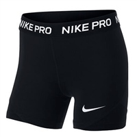 Nike Pro Girls Boy Shorts - Black/White