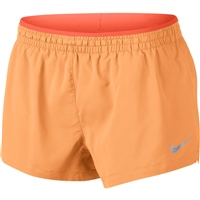 Nike Womens Elevate Track Short - 3in - Orange
