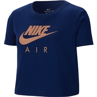 Nike Girls NSW Air Crop Top - Blue/Rose Gold