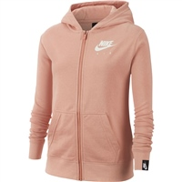 Nike Girls Air Full Zip Hoodie - Rose Gold