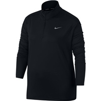 Nike Womens Element H/Zip Top - Black