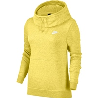 Nike Womens Fleece Overhead Hoodie - Yellow