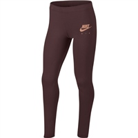 Nike Girls NSW Air Favourites Tights - Maroon/Rose Gold