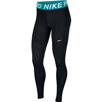 Nike Womens Pro Tights - Black/Teal
